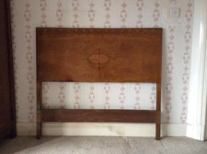 Antique wooden Double Bed Headboard