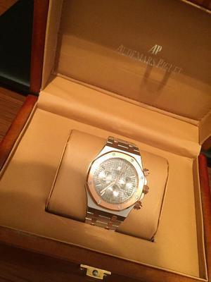 Audemars piguet 2 toned gold and silver with box not Rolex Cartier hublot