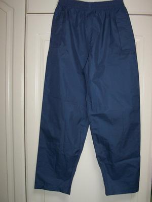 Boys waterproof trousers - blue - age 10