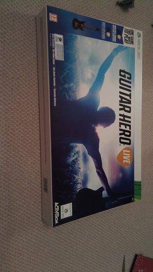Brand new sealed GUITAR HERO LIVE for XBox 360 with Guitar