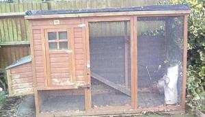 Chicken hut with 2 nesting boxes