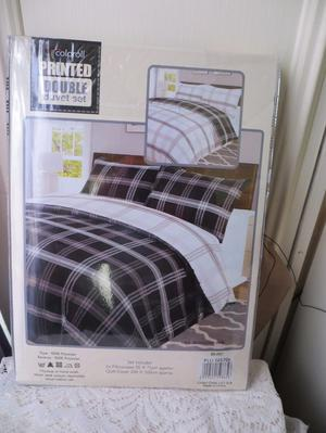 Double Duvet Cover with 2 x Pillow Cases - New in Wrapper
