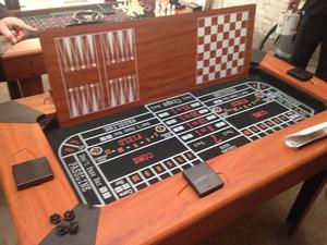 Games table 5 in 1 with roulette cards chess backgammon inc all pieces