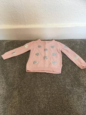 Girls  months pink jumper