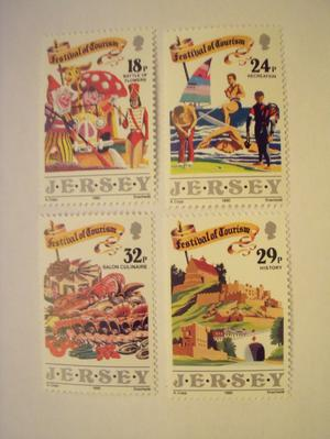"JERSEY MINT STAMP SET ""TOURISM""  - ""POST FREE"""