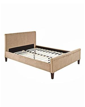 New Boxed Double Sleigh Bed Champagne