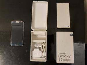 Samsung Galaxy S6 Edge 64gb Midnight Black Unlocked BOXED + Accessories CRACKED SCREEN