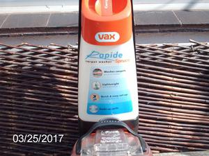 Vax Rapide Spruce v-002 Carpet Shampoo Cleaner used only 4 x