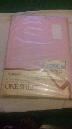 Vintage ST MICHAEL Pink DOUBLE Sheet (NEW)
