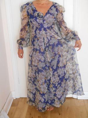 Vintage floral long dress, size small