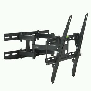"VonHaus "" Double Arm Tilt & Swivel TV Wall Mount Bracket with Built-In Spirit Level"