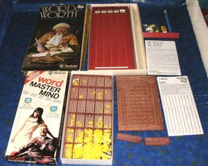 X2 Invicta word games Word Master Mind and Wordsworth Game