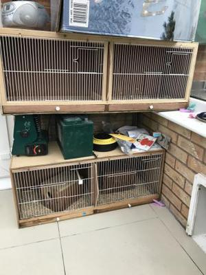 2 x double breeding cages ideal for budgies etc Hardly used