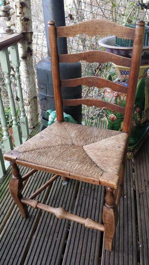 Antique genuine ladder back chairs (2 off)