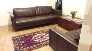 Genuine Leather sofas, 3-2-1 seater, like new