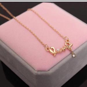Gold plated Love letters necklace