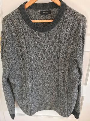 River Island Men's Cable-knit Jumper