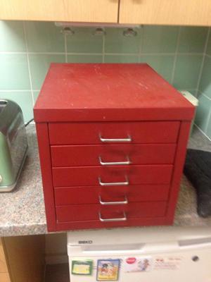 Vintage retro metal filing cabinet industry