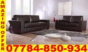 50% OFF ITALIAN LEATHER SOFA 3+2 black or brown BRAND NEW 5