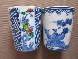 Chinese decorated small tea cups
