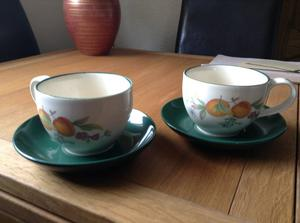 Cloverleaf breakfast cups and saucers