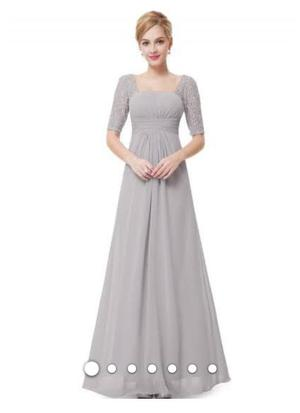 Grey/silver maxi dress size  prom/bridesmaid dress