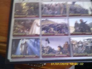 LORD OF THE RINGS 90 CARD SET TWO TOWERS IN SPECIAL BINDER
