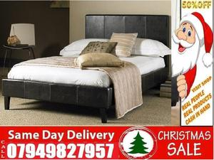New Offer Double Leather Bed Frame at Reasonable Price Memory Foam Also Available for purchase