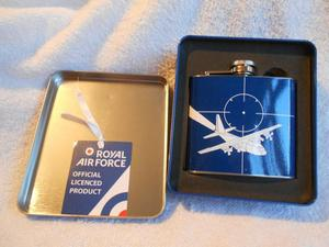 "RAF Themed, "" 5oz Hip Flask "" Stainless Steel, New in Tin"