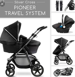 Silver Cross travel system (pram/pushchair/car seat)