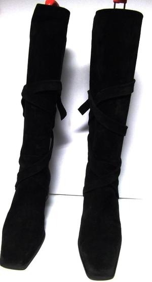 UK 5 Black Suede Boots RUSSELL & BROMLEY EU 38
