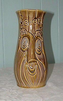 Vintage Twin Face Celery Jar
