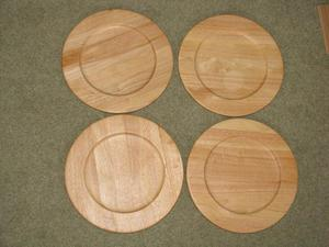 Wood Underplates (Chargers)