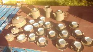 's denby chevron tea and coffe set