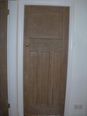 's stripped door.