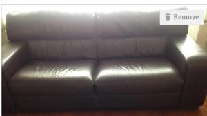 3 seater leather settee. Calls only