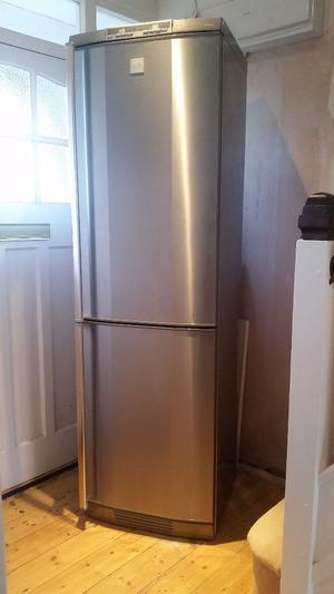 AEG Santo Fridge Freezer Stainless Steel - In Excellent condition