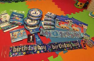 All aboard 1st birthday boys party bundle
