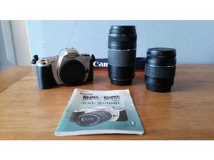 Canon EOS 300 SLR camera with two lenses in original