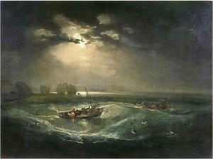 Fishermen at sea off the Needles picture in Sunderland