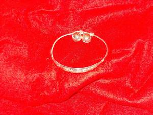 LOVELY BABY BANGLE. STIRLING SILVER. EXPANDABLE. WITH TWO LI
