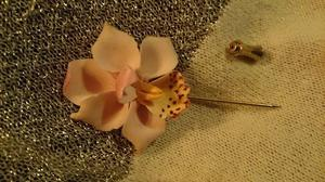 Pink Orchid tie/lapel pin