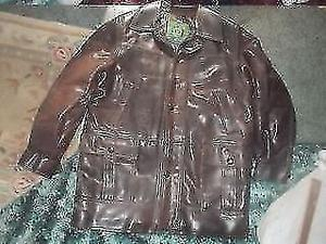 * REDUCED * LEATHER JACKET / COAT ** SIZE L ** MADE IN ITALY * DARK BROWN* VGC** CLACTON CO15 6AJ
