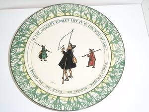 Royal Doulton Plate, Isaac Walton Ware