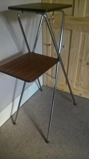 Vintage 2 Tier Folding Projector Stand