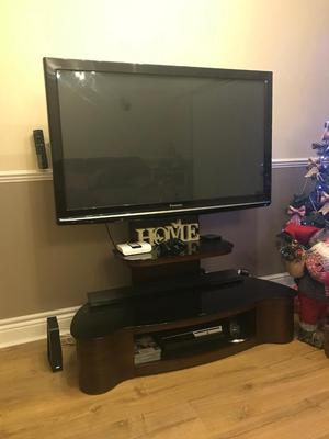"50"" Panasonic - viera TV and walnut stand"