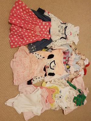 Assortment of summer baby clothes (0-3 months)