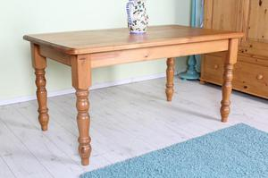 DELIVERY OPTIONS - SOLID PINE FARMHOUSE KITCHEN TABLE WAXED