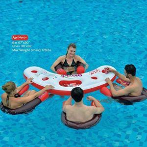 Ginzick Inflatable Floating Pool Bar Lounge