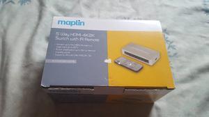 MAPLIN 5 WAY HDMI 4K2K SWITCH WITH IR REMOTE